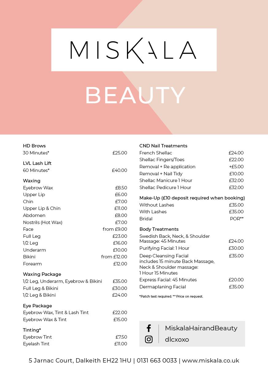 miskala-beauty-pricelist-2019